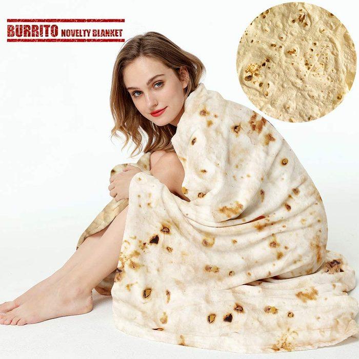 Burrito Tortilla Wrap Blanket