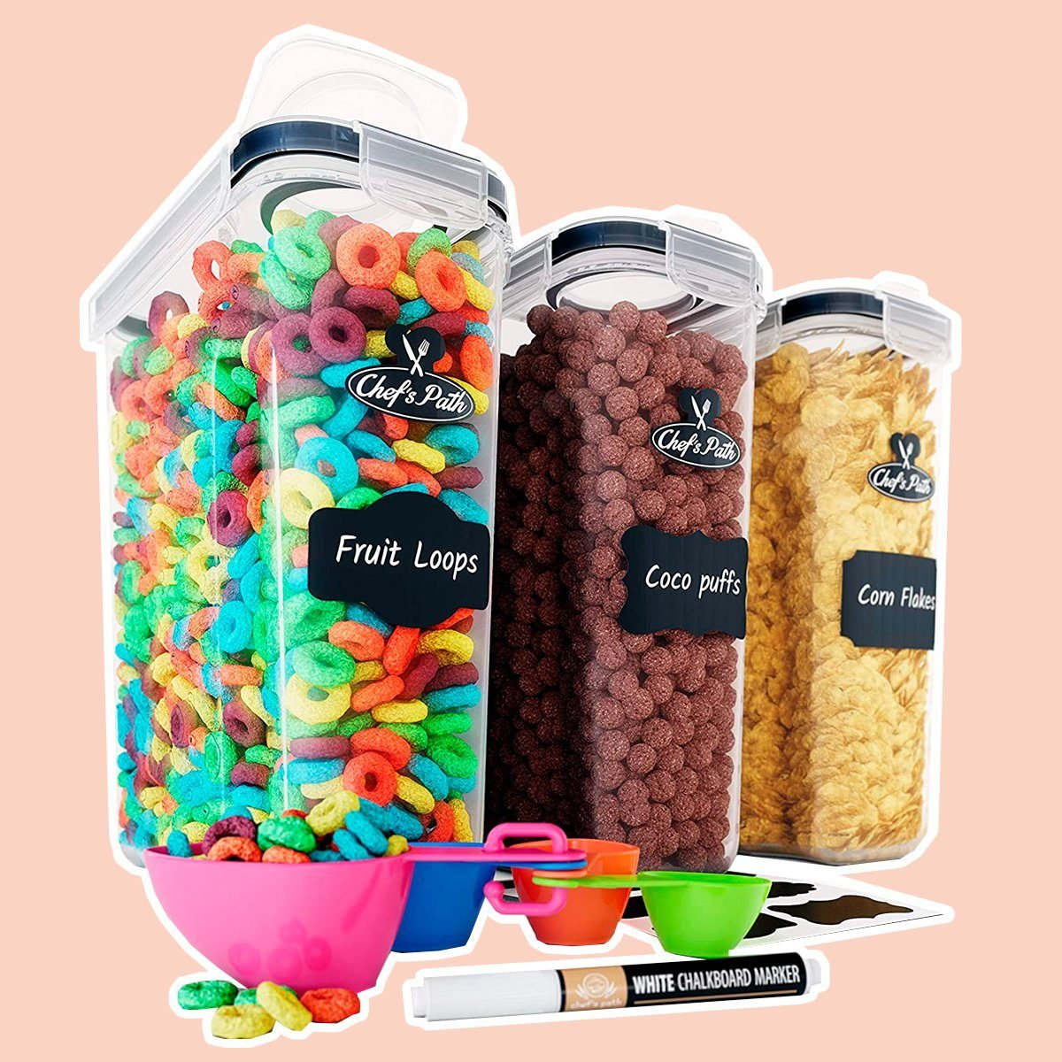 Chef's Path Cereal Container Storage Set
