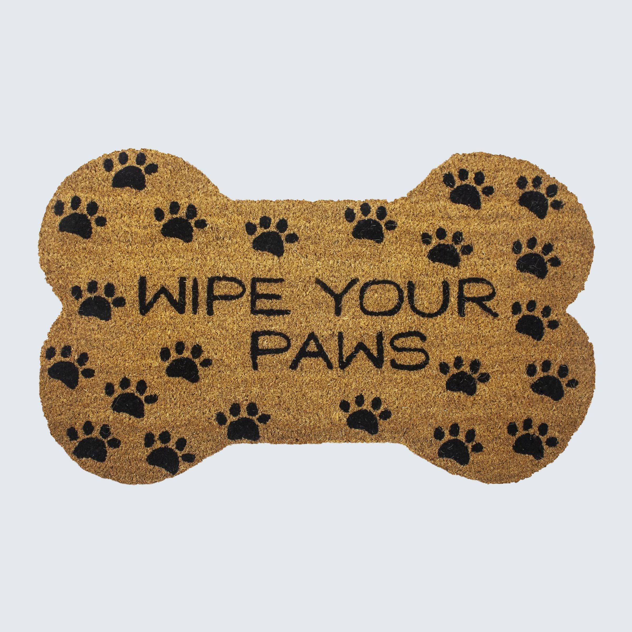 """Entryways """"Wipe Your Paws"""" Doormat"""