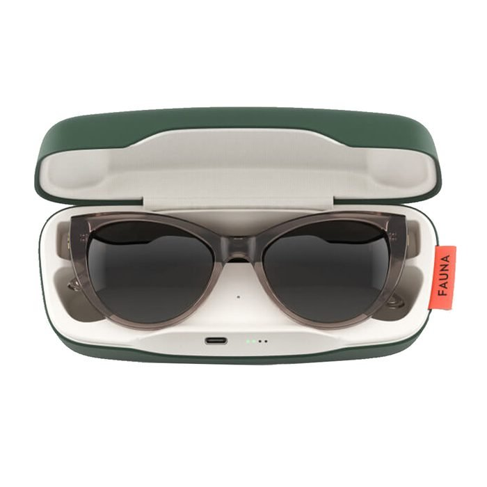 Fauna Fabula Crystal Brown Audio Sunglasses