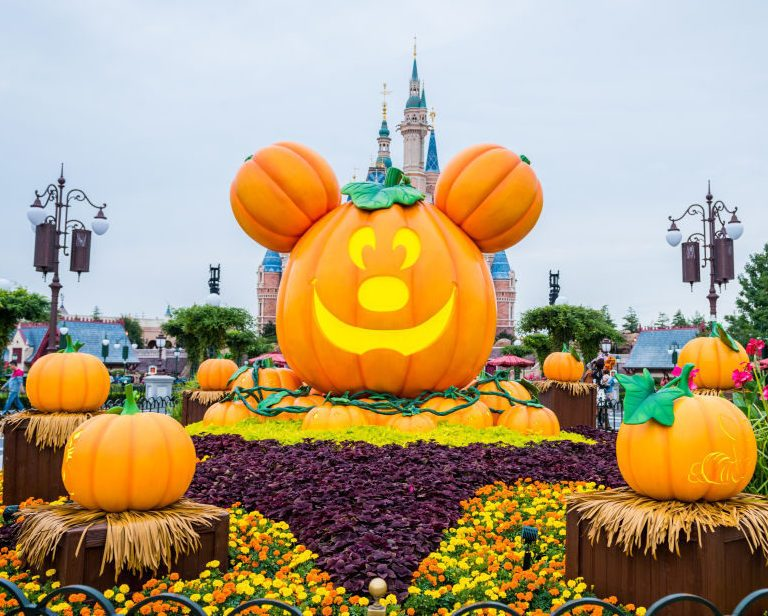 Shanghai Disney Resort Decorated For Halloween