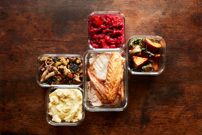Thanksgiving Leftovers in Containers