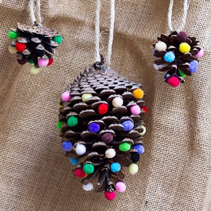 Christmas ornaments made with natural materials