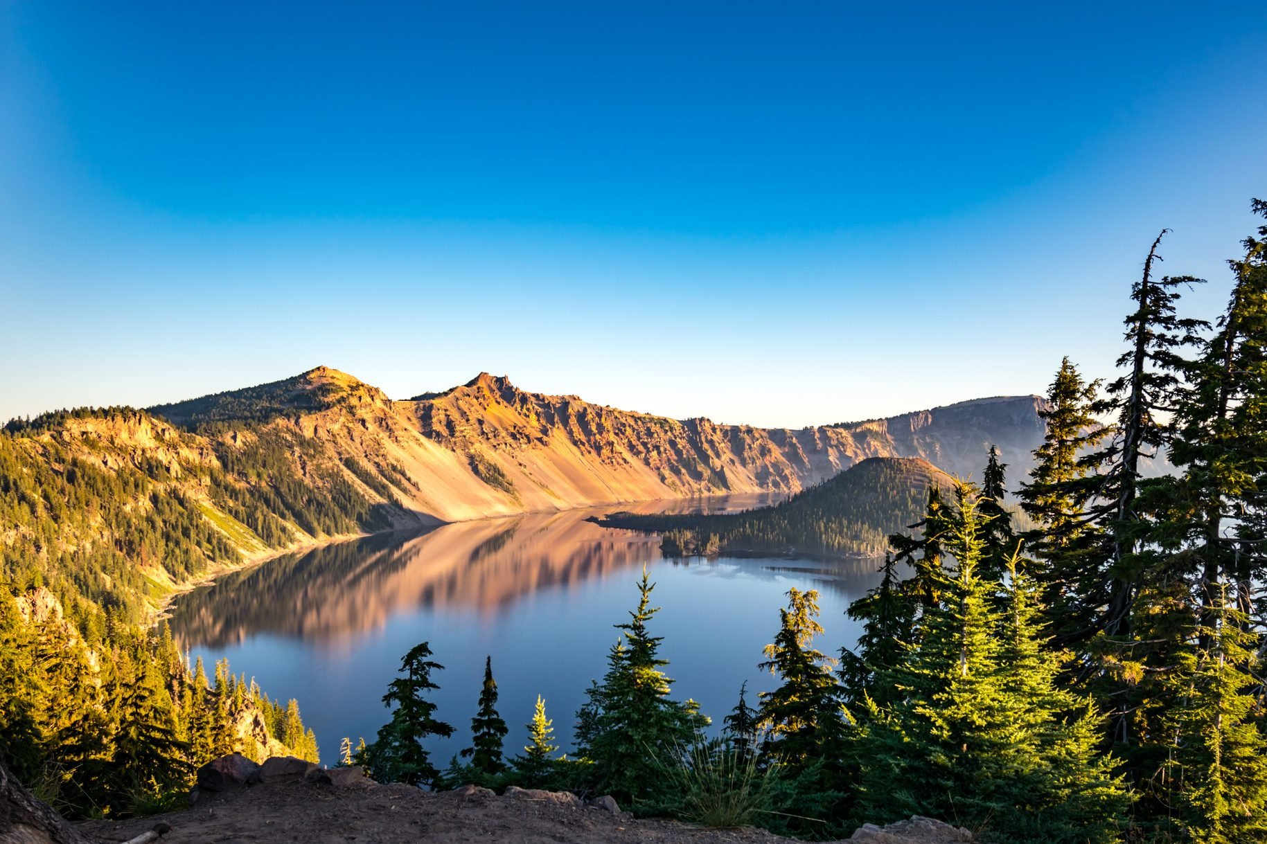 Crater Lake National Park at Sunrise