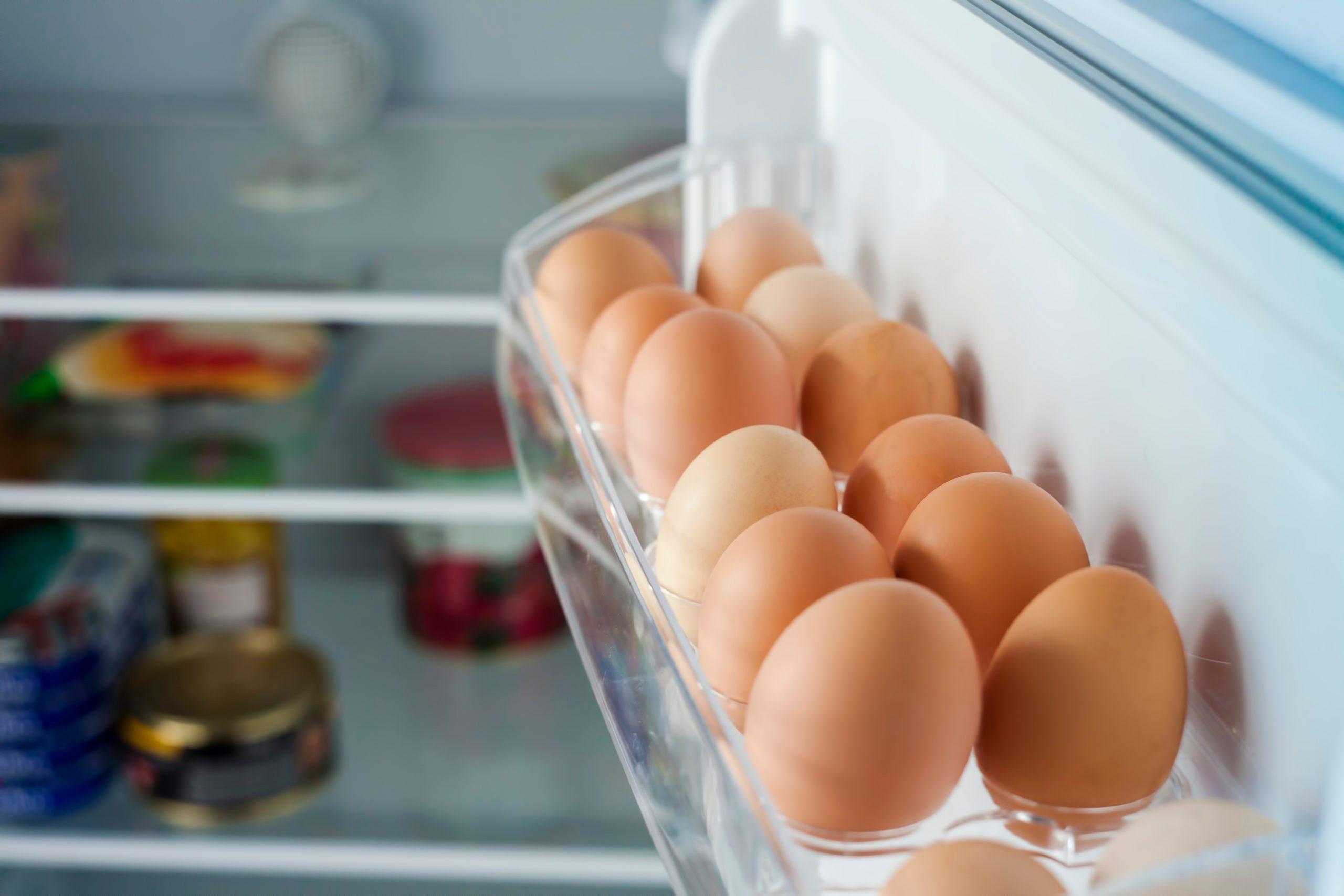 healthy bio eggs in the fridge