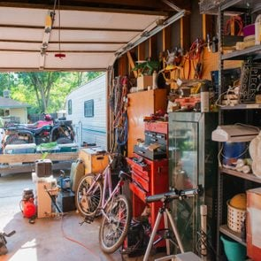 Cluttered Garage Home Storage Room in Denver Colorado