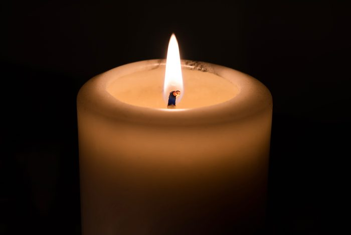 Candlelight with black background