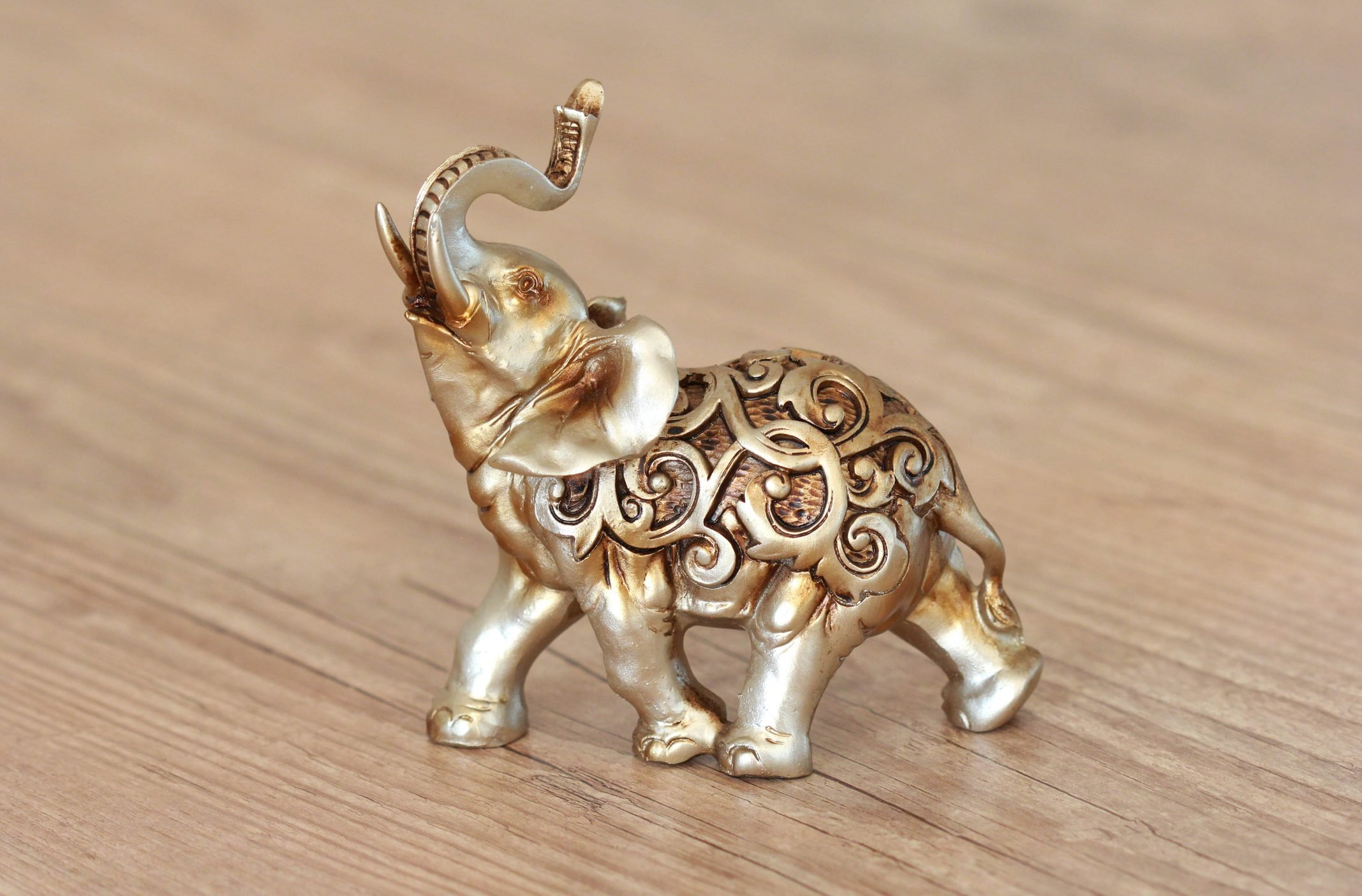 Statue of Hindu elephant golden