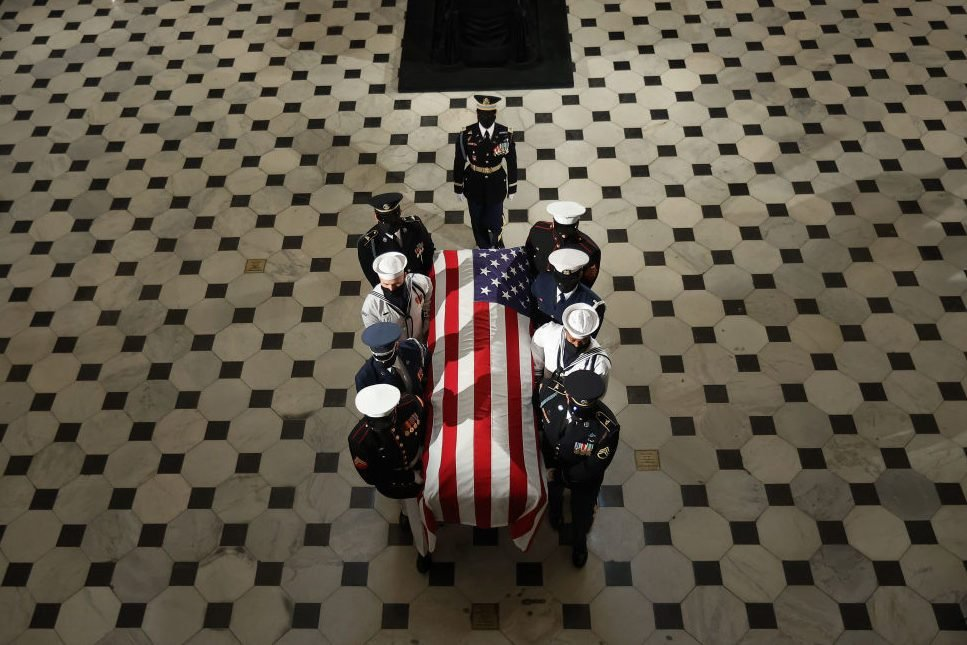 Justice Ruth Bader Ginsburg Lies In State At US Capitol Building