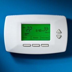 thermostat show question mark symbols