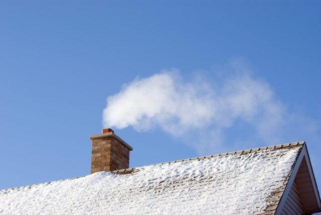 Smoking Winter Chimney