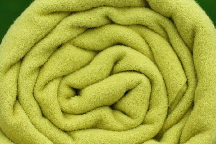 Rolled up blanket