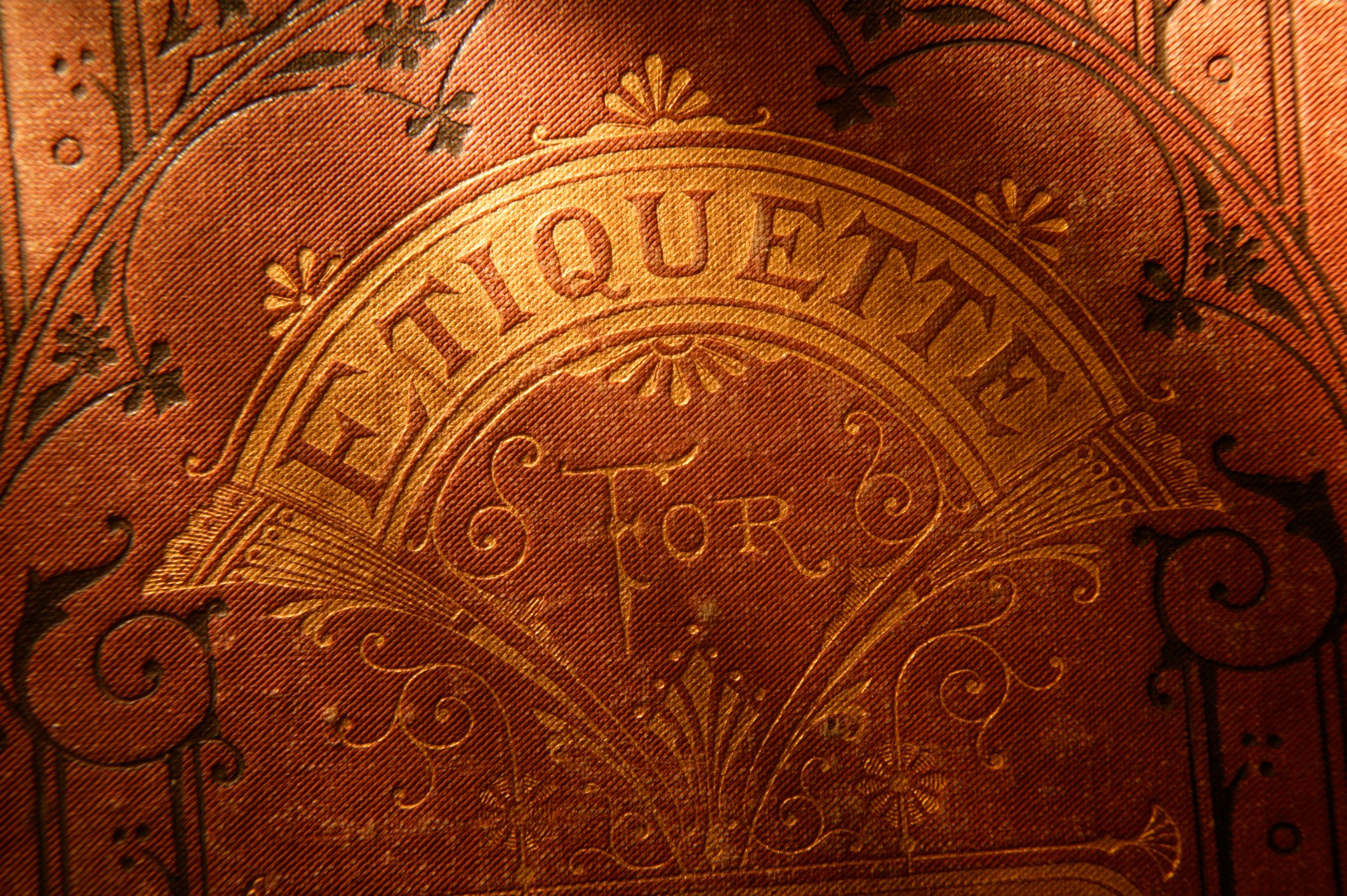 Antique Book of Etiquette 2