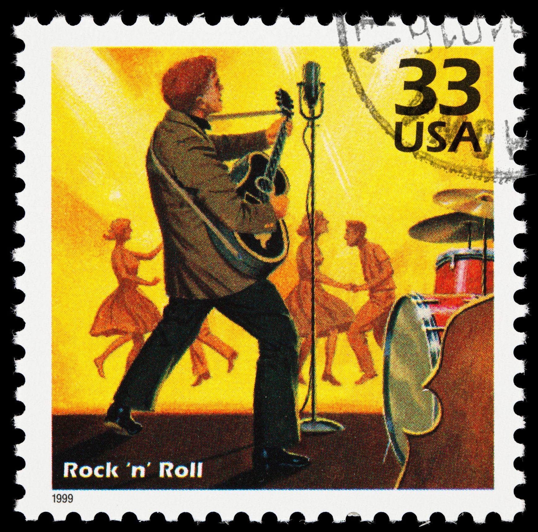 Rock 'n' Roll postage stamp