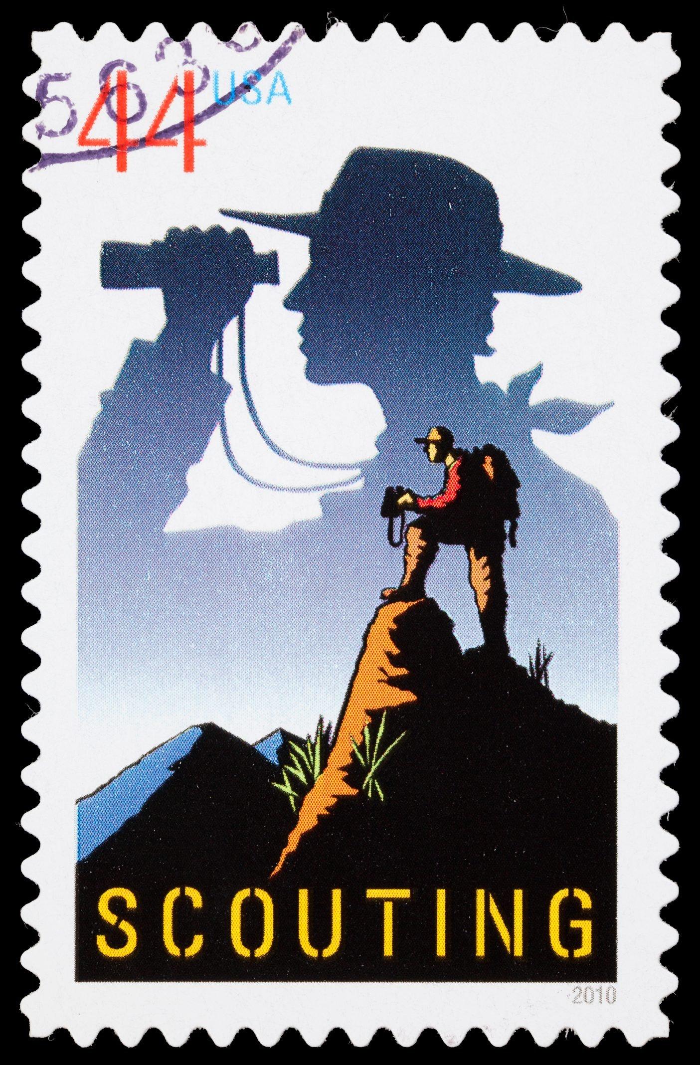 USA Scouting postage stamp