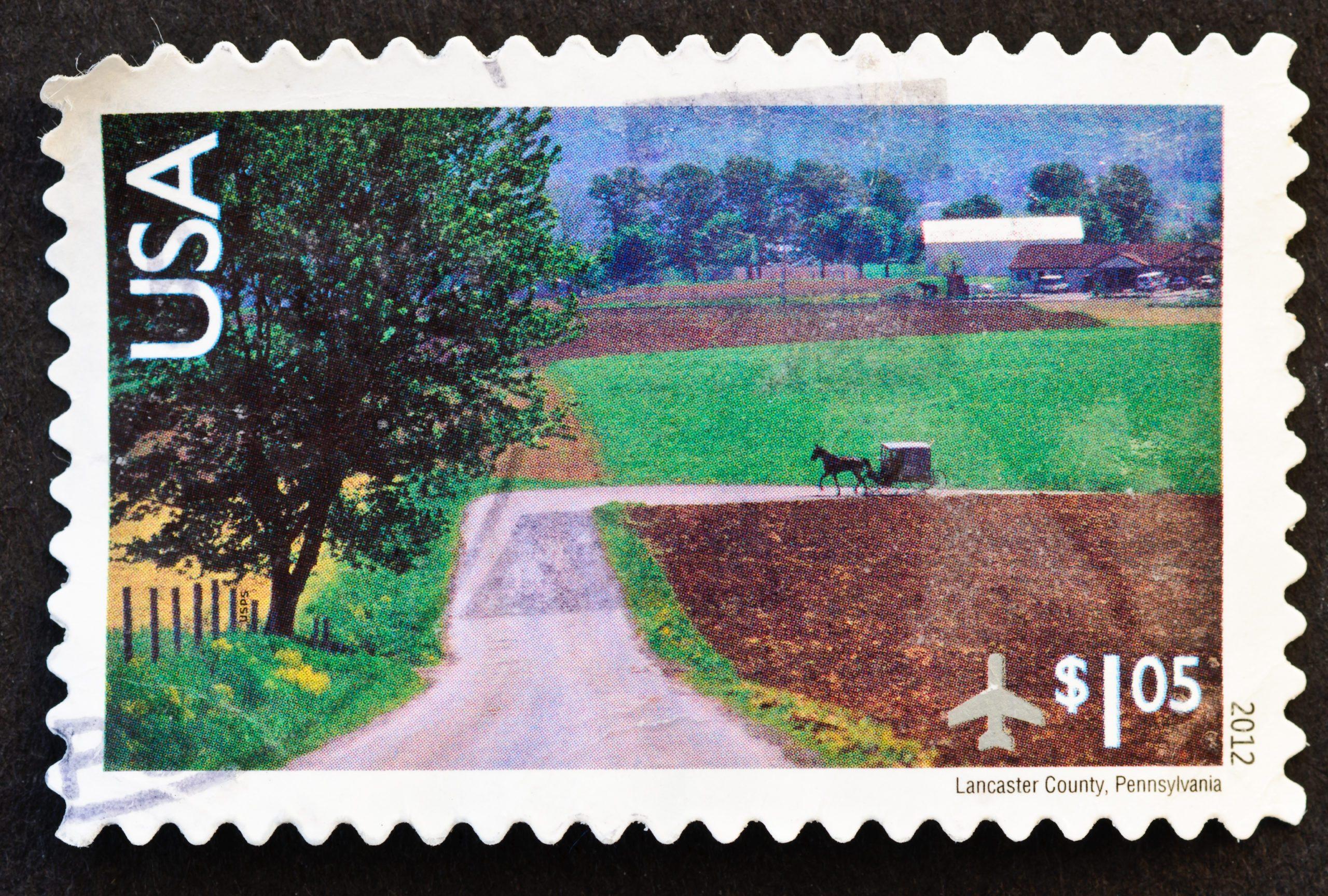 Lancaster County Pennsylvania Stamp
