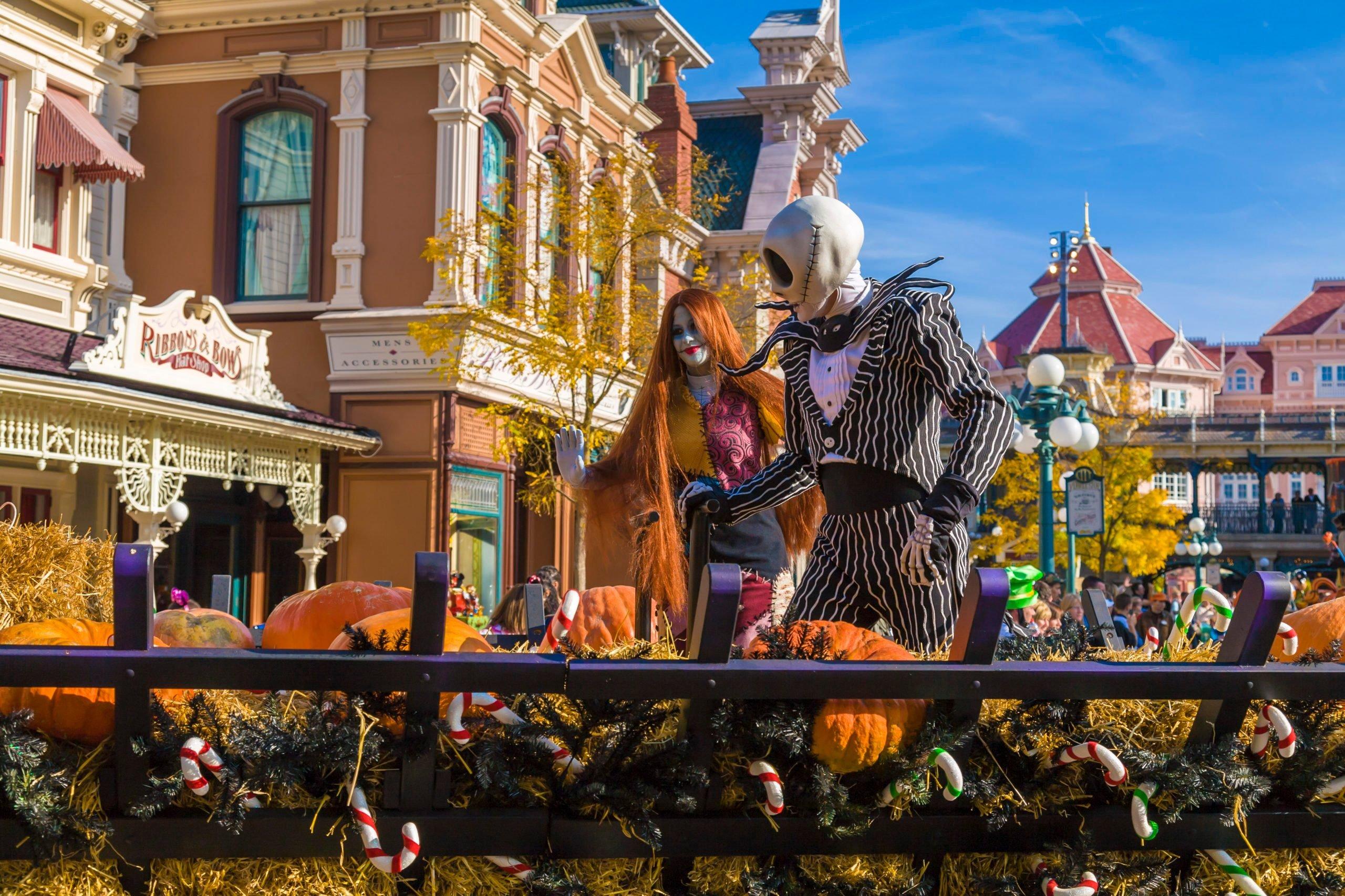 Halloween Parade in Main Street USA at Disneyland Resort...