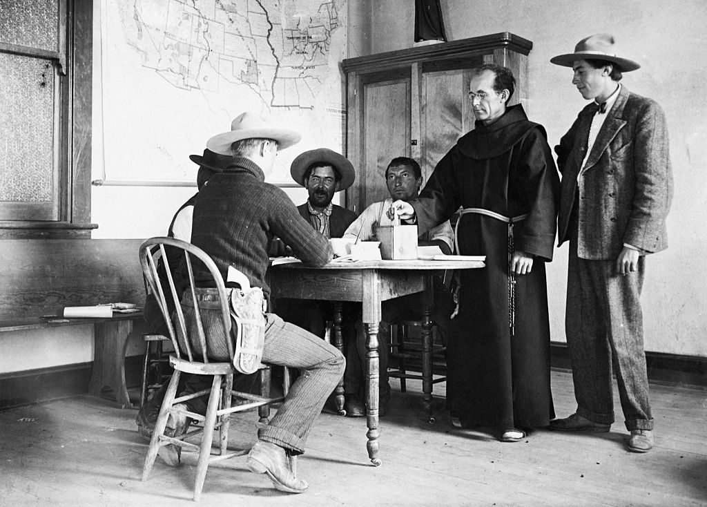 Priest Voting in Arizona Elections, 1906
