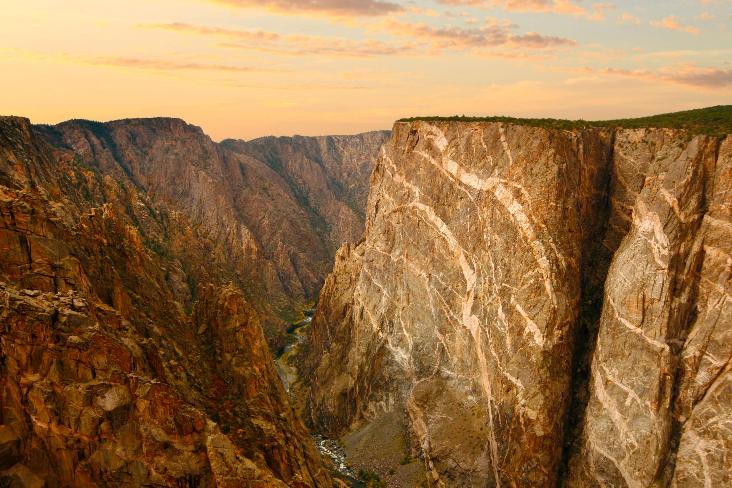 Black Canyon of the Gunnison at Sunset