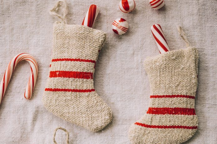 Stockings with candy canes