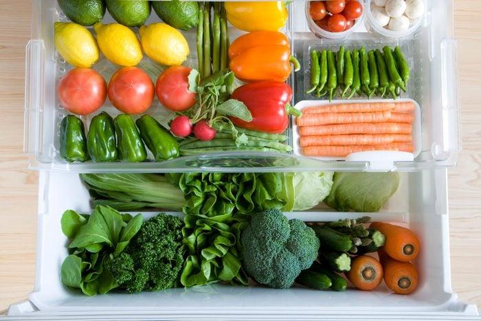 Veggie drawer in the fridge