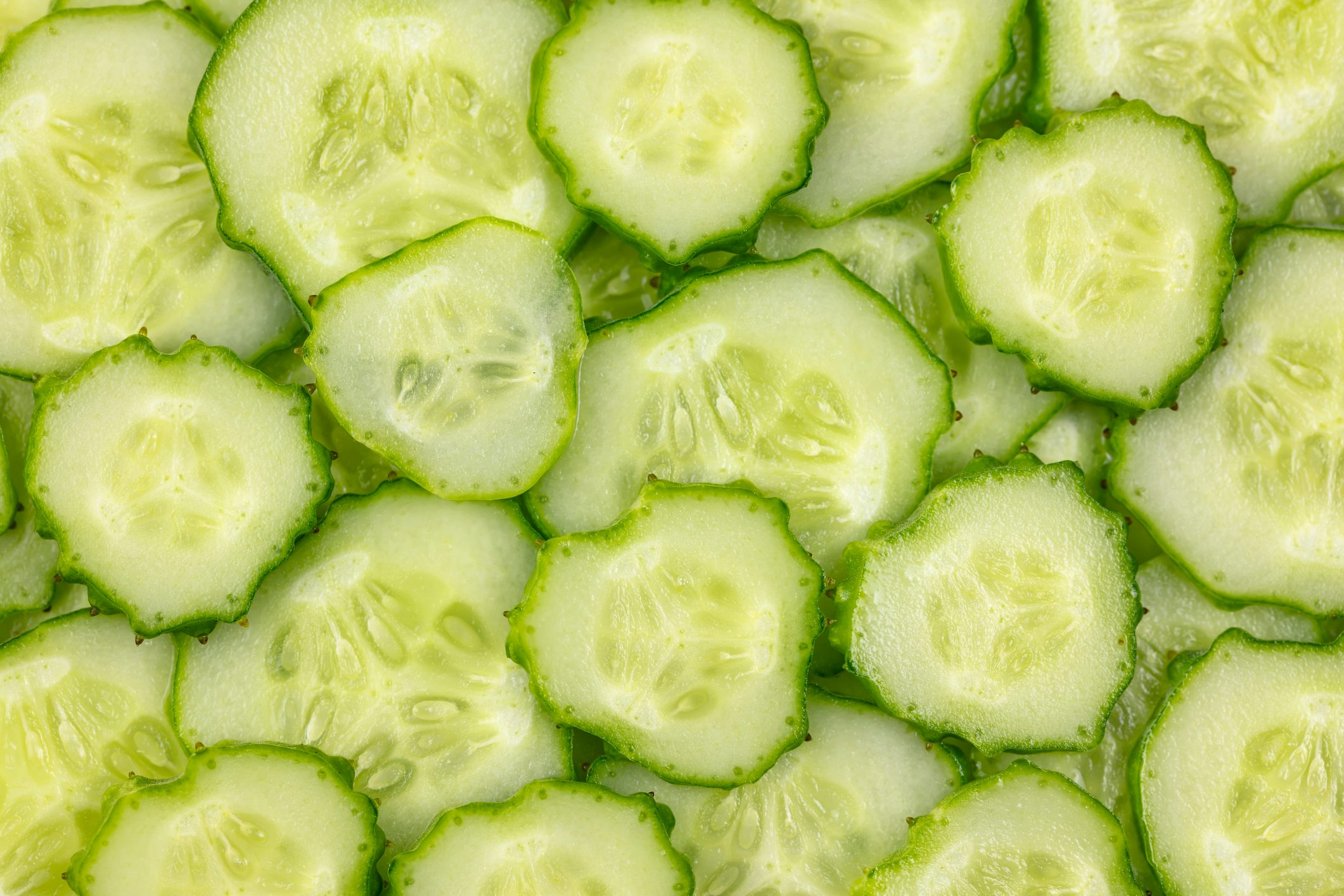 Ripe, sliced, fresh fruits, organic cucumber