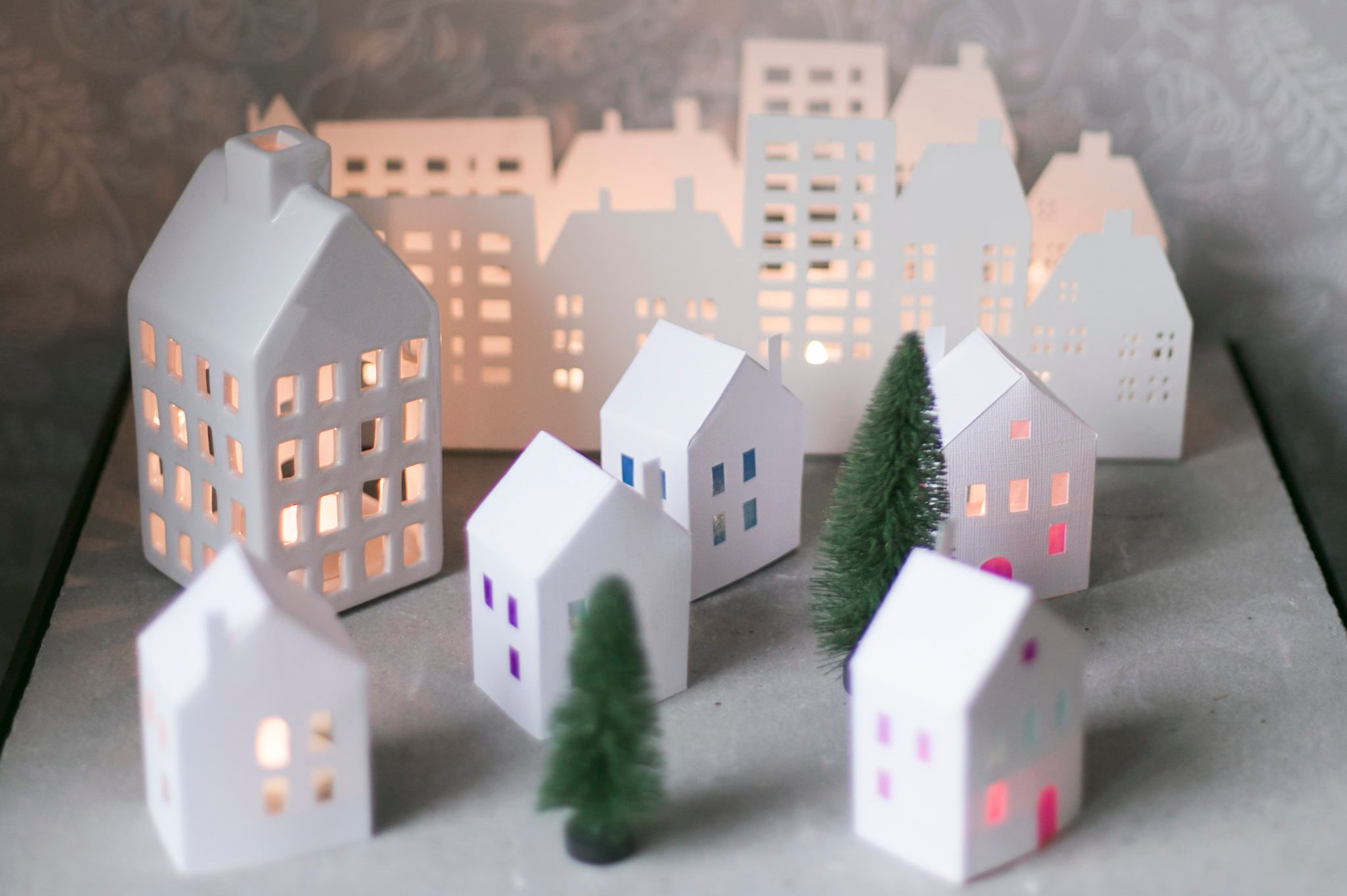 Christmas paper town