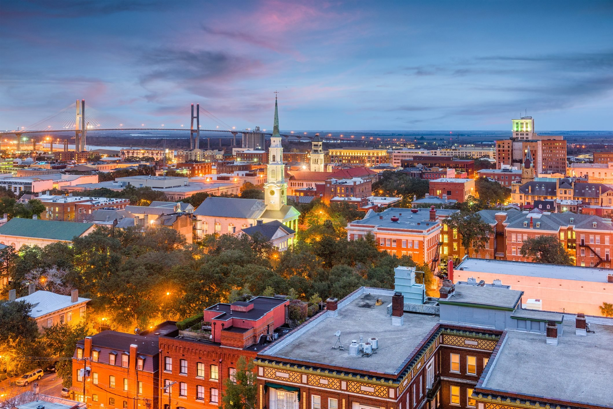 Savannah, Georgia, USA Skyline