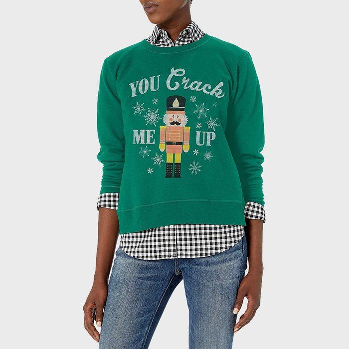 Hanes Womens Ugly Christmas Sweatshirt