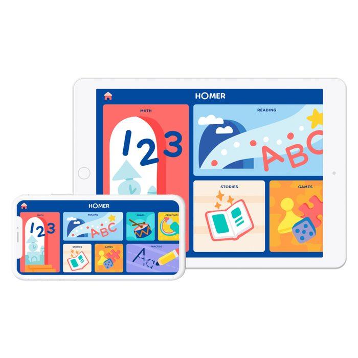 Homer Learning App System For Kids