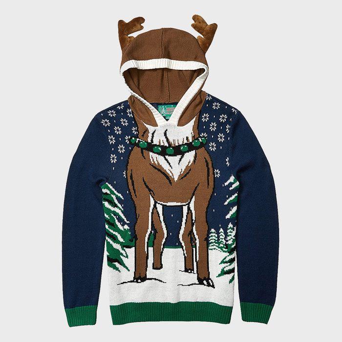Hooded Ugly Christmas Sweater Reindeer