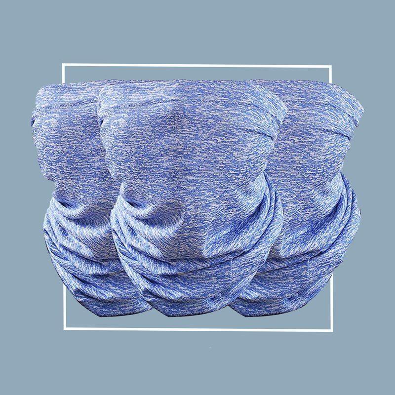Bandana-style filtered neck gaiter: Kingyao