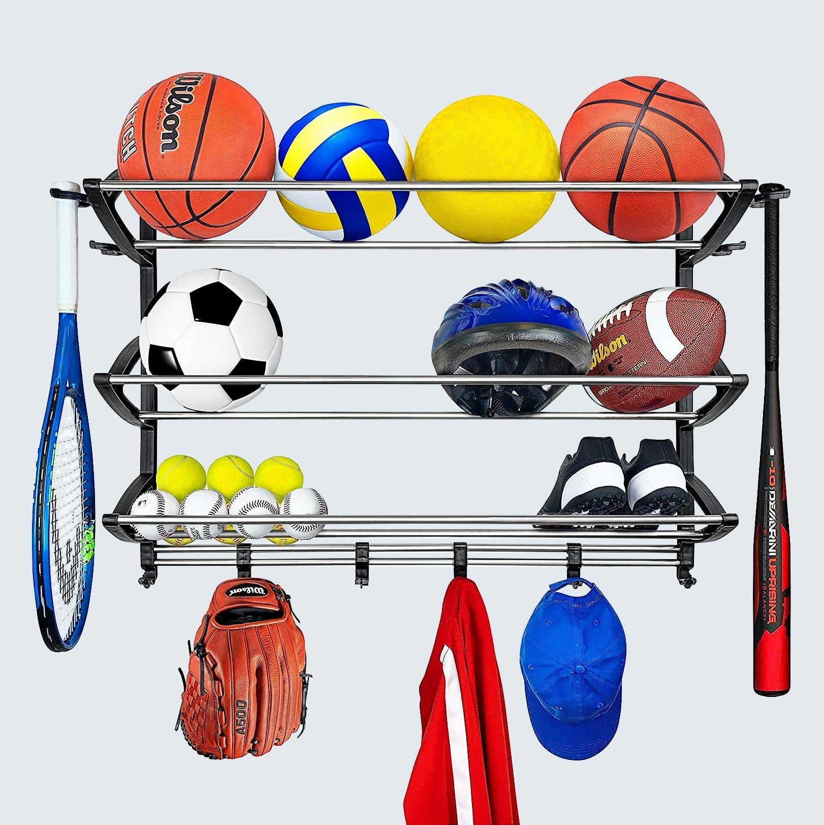 Lynk Sports Rack with Adjustable Hooks