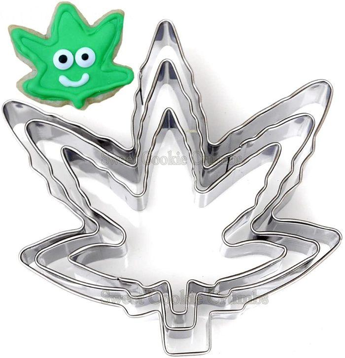 Marijuana Leaf Shaped Cookie Cutters