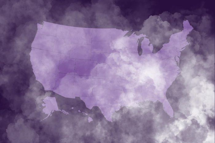 Ghost-like haze covering America