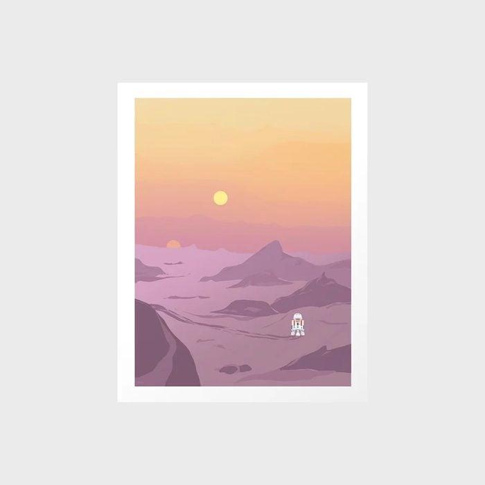 R5 D4 Tatooine Sunset Art Print