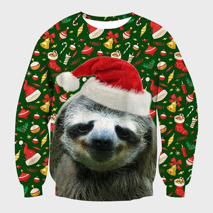 Raisevern Unisex Christmas Sloth Sweatshirt
