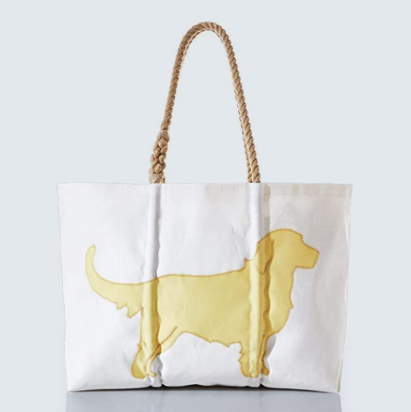 Sea Bags Recycled Sail Cloth Golden Retriever Tote Large