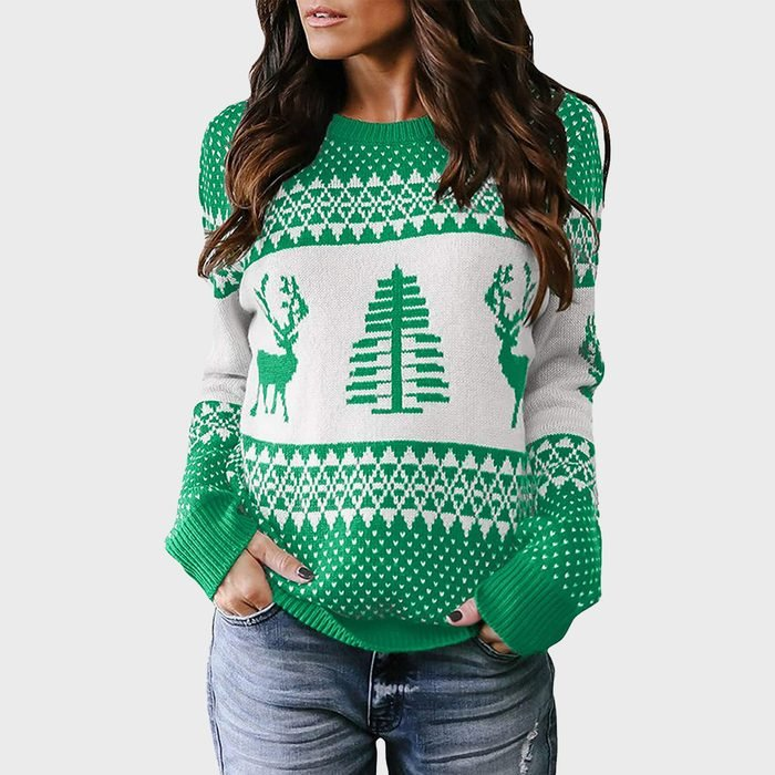 Sidefeel Knitted Holiday Pullover