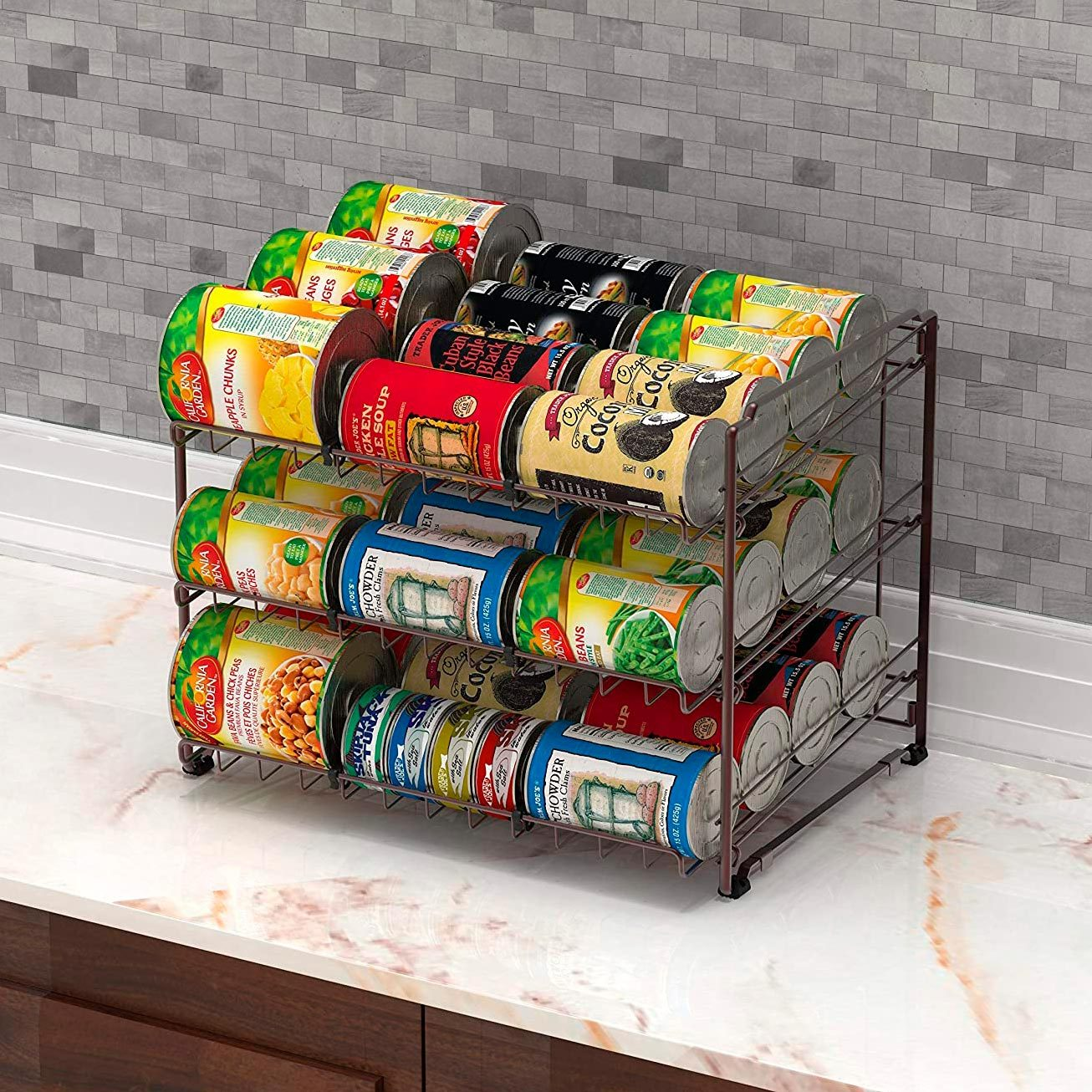 Simple Houseware Stackable Can Rack Organizer