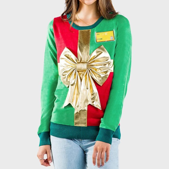 Tipsy Elves Ugly Christmas Sweaters Wrapped Present