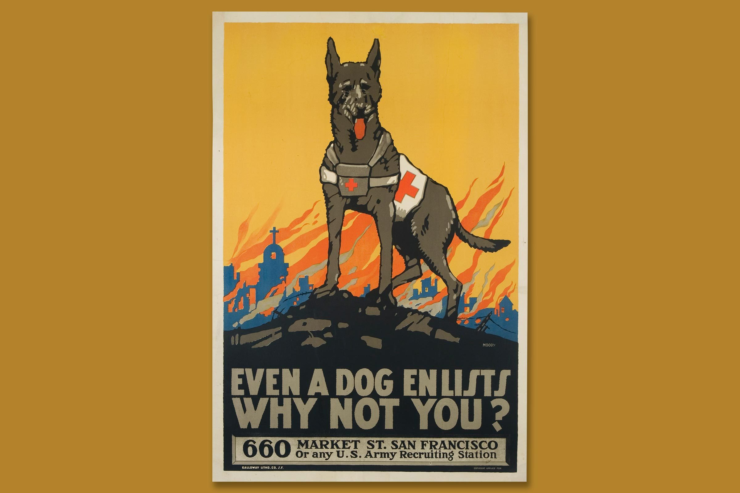 wwi poster featuring a dog