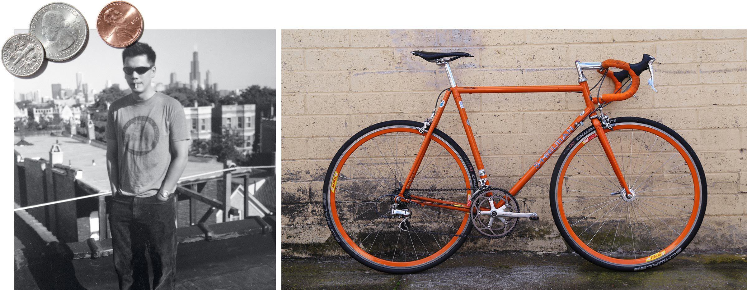 Left: Tom; right: the Steelman bike