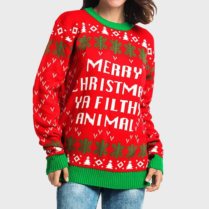 Ugly Christmas Sweater Knit Funny Fair Isle Pullover