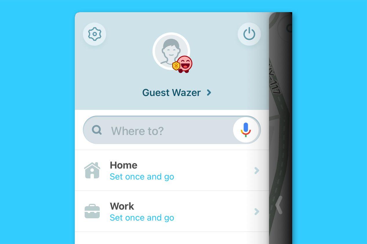 waze screenshot - set and go