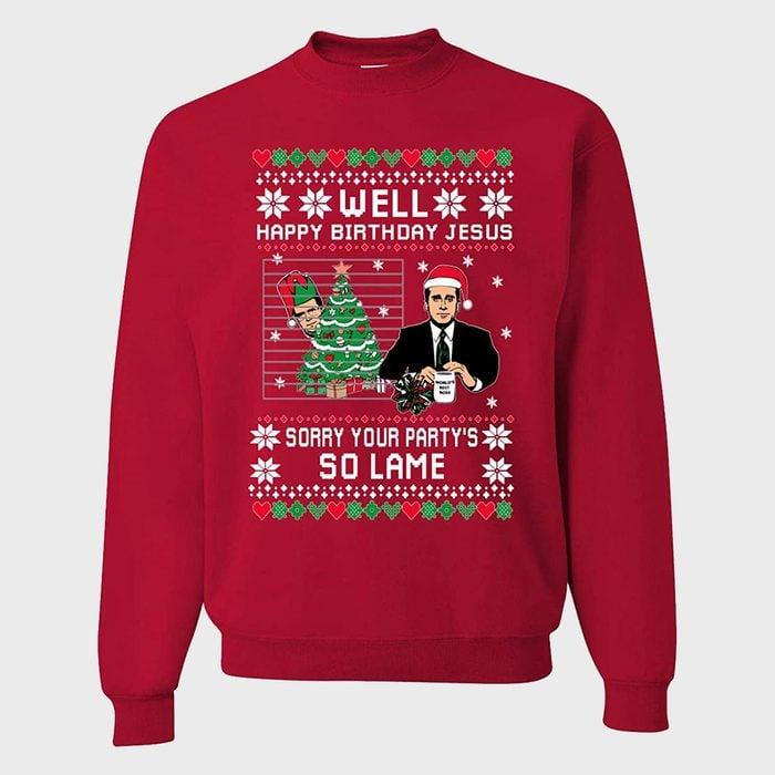 Well Happy Birthday Jesus Crewneck Sweatshirt