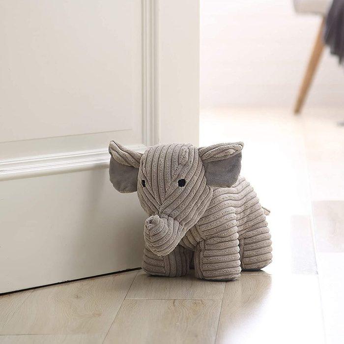 White Elephant Door Stopper