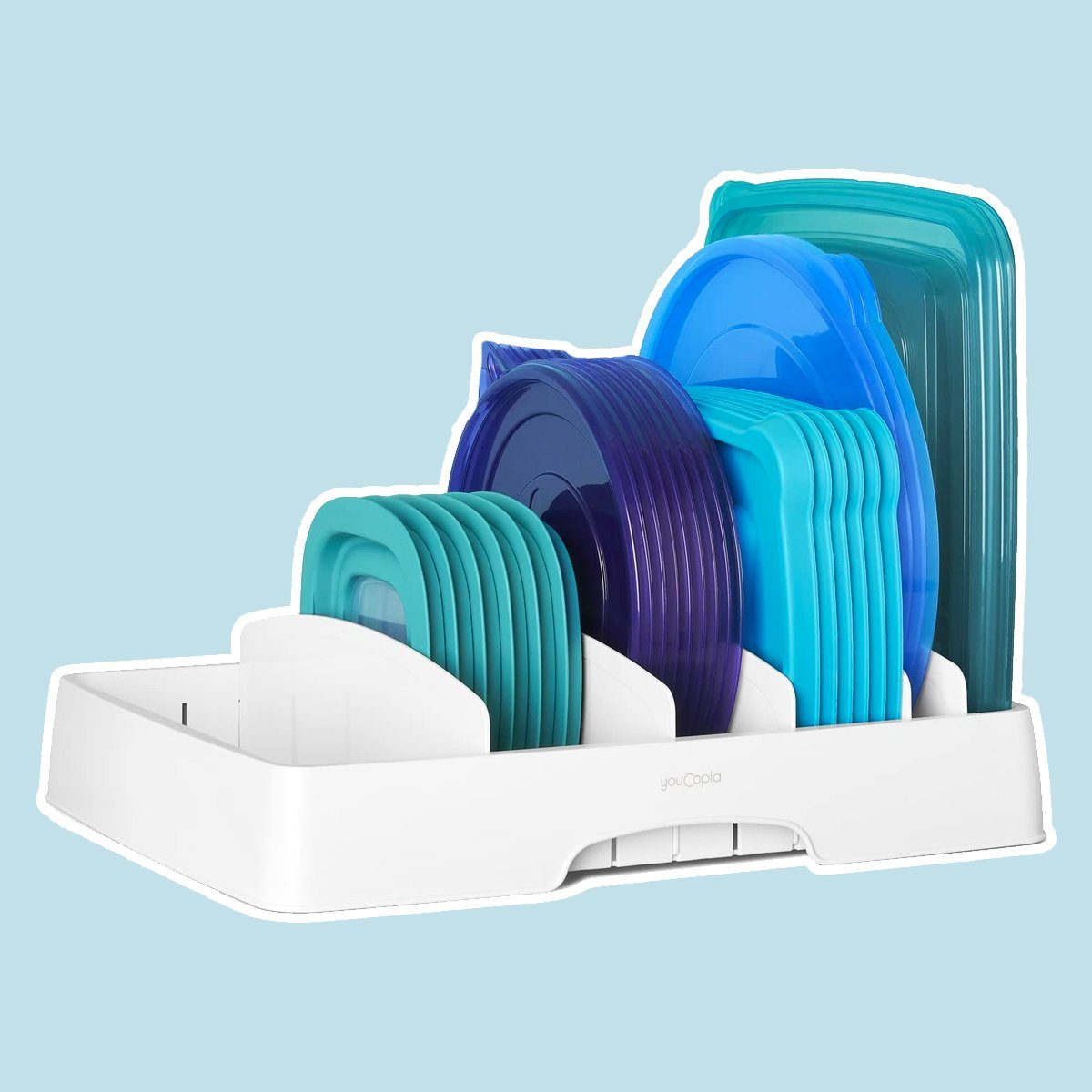 YouCopia 50100 StoraLid Food Container Lid Organizer,
