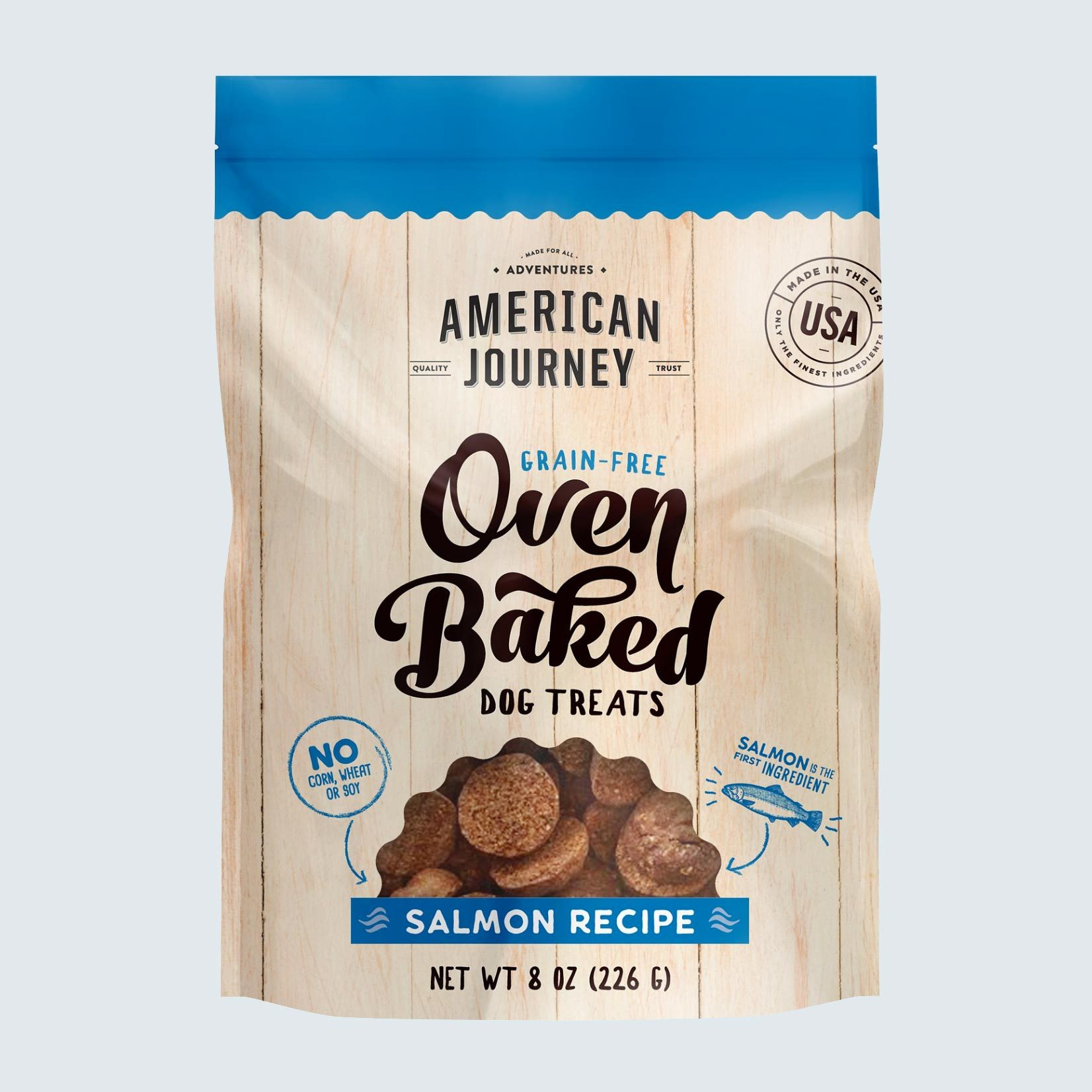 American Journey Salmon Recipe Grain-Free Oven-Baked Biscuit Dog Treats