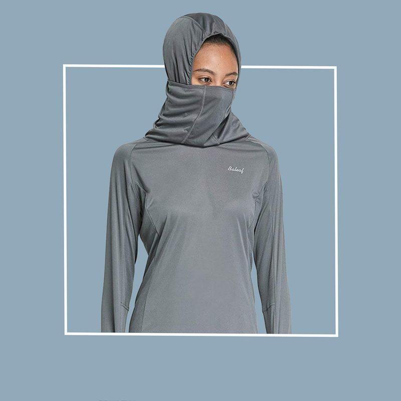 baleaf hoodie with built in neck gaiter